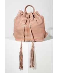 Day & Mood - Tasselled Leather Backpack - Lyst