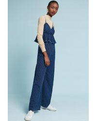 Anthropologie - Striped Jumpsuit - Lyst