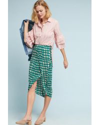 Plenty by Tracy Reese - Checked Wrap Skirt - Lyst