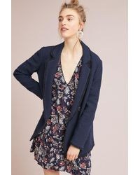 Helene Berman - Tweed Double-breasted Blazer - Lyst