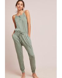 b2e6e77d75bc Anthropologie Selected Femme Fina Striped Jumpsuit in Green - Lyst