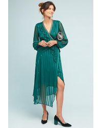 Bl-nk - Holly Ruffled Wrap Midi Dress - Lyst