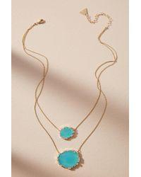Serefina - Double Stone Pendant Necklace - Lyst