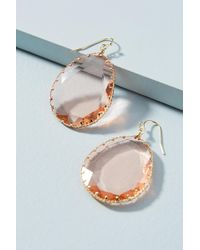 Anthropologie Tierra Wire Drop Earrings