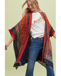Bl-nk - Sylvia Frayed-printed Kimono - Lyst