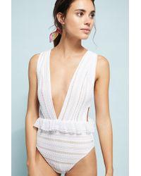Nightcap   Bardot Ruffled Lace One-piece Swimsuit   Lyst