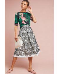 Eliza J - Embla Lace Overlay Skirt - Lyst