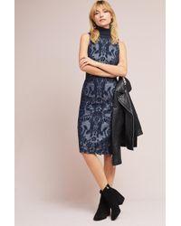 Maeve - Jacquard Turtleneck Dress - Lyst