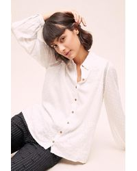 Anthropologie - Dobby Embroidered Shirt - Lyst