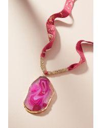 Serefina - Agate Pendant Necklace - Lyst