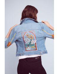 Pilcro - Embroidered Denim Jacket - Lyst