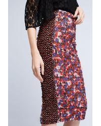 Byron Lars Beauty Mark   Poppies Pencil Skirt   Lyst