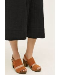 Floreat - Skirted Gauze Wide-legs - Lyst