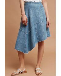 Pilcro - Frayed Linen Skirt - Lyst