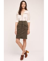 Pilcro - Chino Pencil Skirt - Lyst