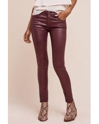 Anthropologie - Ag Leatherette Low-rise Legging Ankle Jeans - Lyst