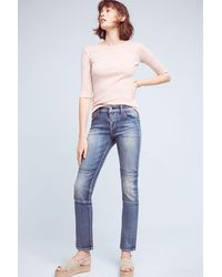 Pilcro - Parallel Mid-rise Straight Jeans - Lyst