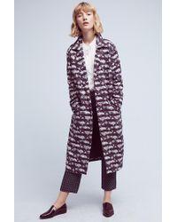 Seen, Worn, Kept   Geode Printed Coat, Purple   Lyst