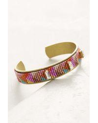 Jill Golden - Fractal Beaded Cuff Bracelet - Lyst