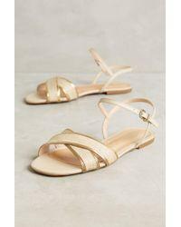 Vicenza | Raffia Cross Strap Sandals | Lyst