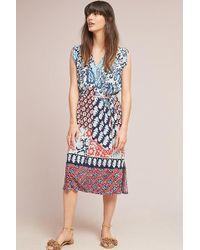 Anthropologie - Patchwork Midi Dress - Lyst