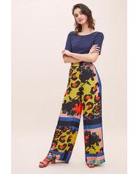 Sfizio - Una Leopard Print Wide-leg Trousers - Lyst