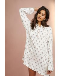 Anthropologie - Brushed V-neck Sleep Shirt - Lyst