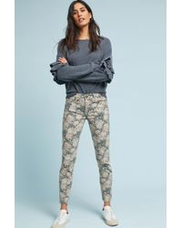 Current/Elliott - The Stiletto Mid-rise Skinny Cropped Jeans - Lyst