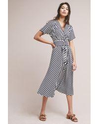 Anthropologie - Elwyn Striped Corseted Kimono Maxi Dress - Lyst