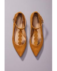 Anthropologie - T-strap City Flats - Lyst