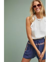 Chloe Oliver - Isla Embroidered Shorts - Lyst