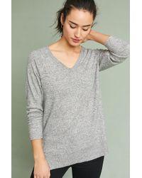 Anthropologie | Brushed Fleece V-neck Pullover | Lyst