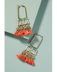 Serefina - Coral Reef Hoop Earrings - Lyst