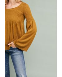 Knitted & Knotted - Esme Bell-sleeve Pullover - Lyst
