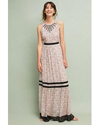 Tracy Reese - Printed-ruffled Maxi Dress - Lyst