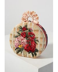 Anthropologie - Floral-embroidered Circle Clutch - Lyst