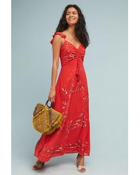 207d80352f41c FARM Rio Summer Flower Wrap Dress - Lyst