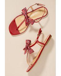 Vicenza - Bandana Bow Thong Sandals - Lyst