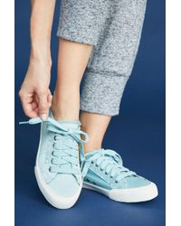 Seavees - Monterey Satin Frayed Trainers - Lyst