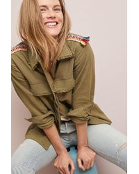 Moon River - Embroidered Utility Jacket - Lyst