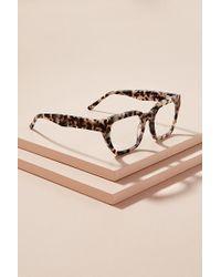 Anthropologie - Rectangle-frame Tortoiseshell-effect Glasses - Lyst