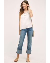Pilcro - Hyphen Cuffed Mid-rise Jeans - Lyst