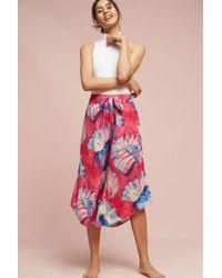 Lilka - Josie Floral Pyjama Bottoms, Red - Lyst