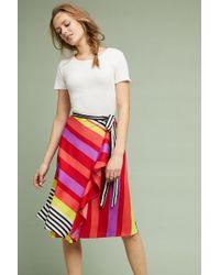 Ranna Gill - Lisa Striped Wrap Skirt - Lyst