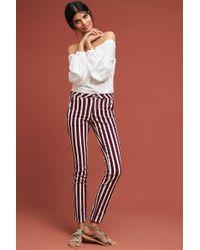 Scotch & Soda - Striped Skinny Pants - Lyst