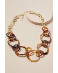 Anthropologie - Rona Tortoiseshell-effect Necklace - Lyst