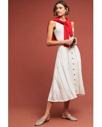 Anthropologie - Amarie Striped A-line Midi Skirt - Lyst
