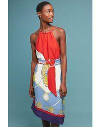 d1e5e4bf3b713 Maeve Gemma Printed Dress in Blue - Lyst