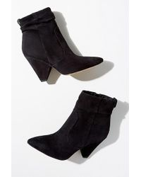 Sam Edelman - Point-toe Suede Ankle Boots - Lyst