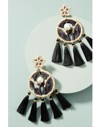 Mercedes Salazar - Woven Dreamcatcher Drop Earrings - Lyst